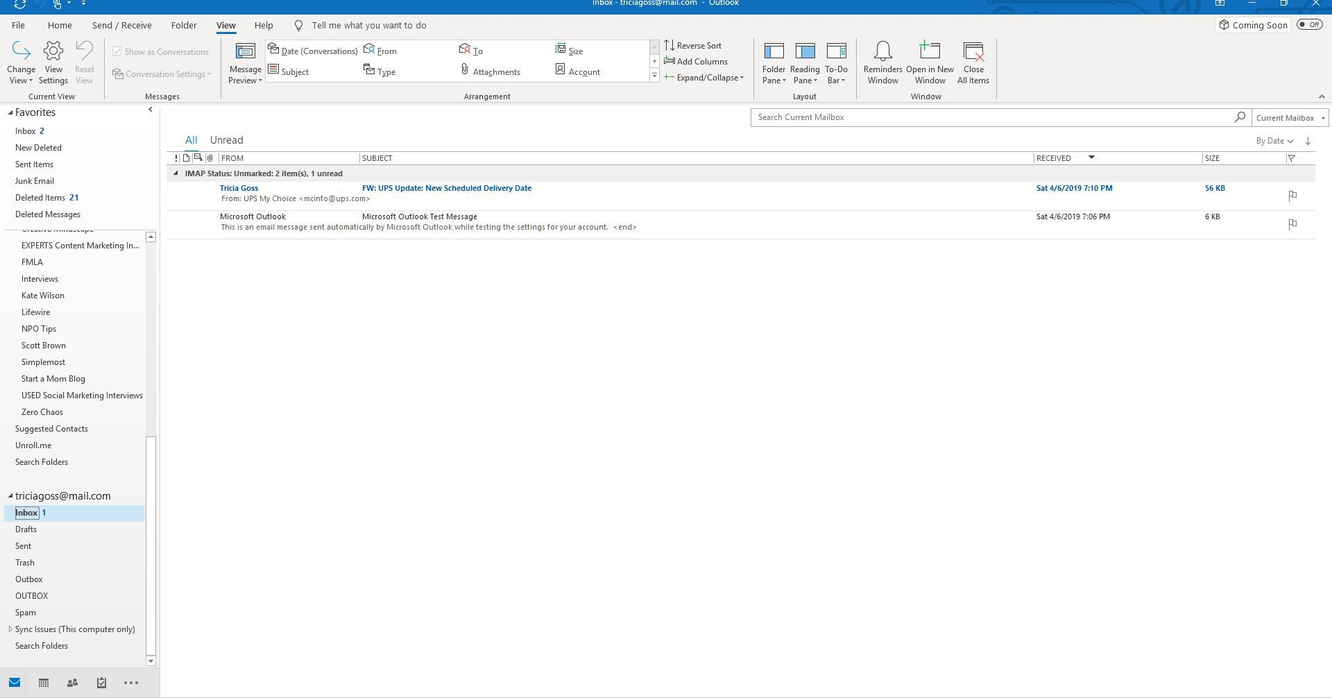 Hiding Strikethrough Messages in Outlook
