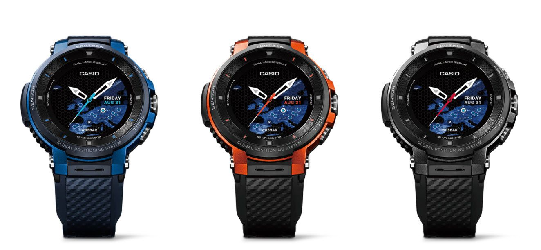 The Casio WSD-F30 lineup.