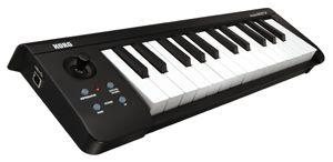 The Korg microKEY 25 portable MIDI keyboard controller