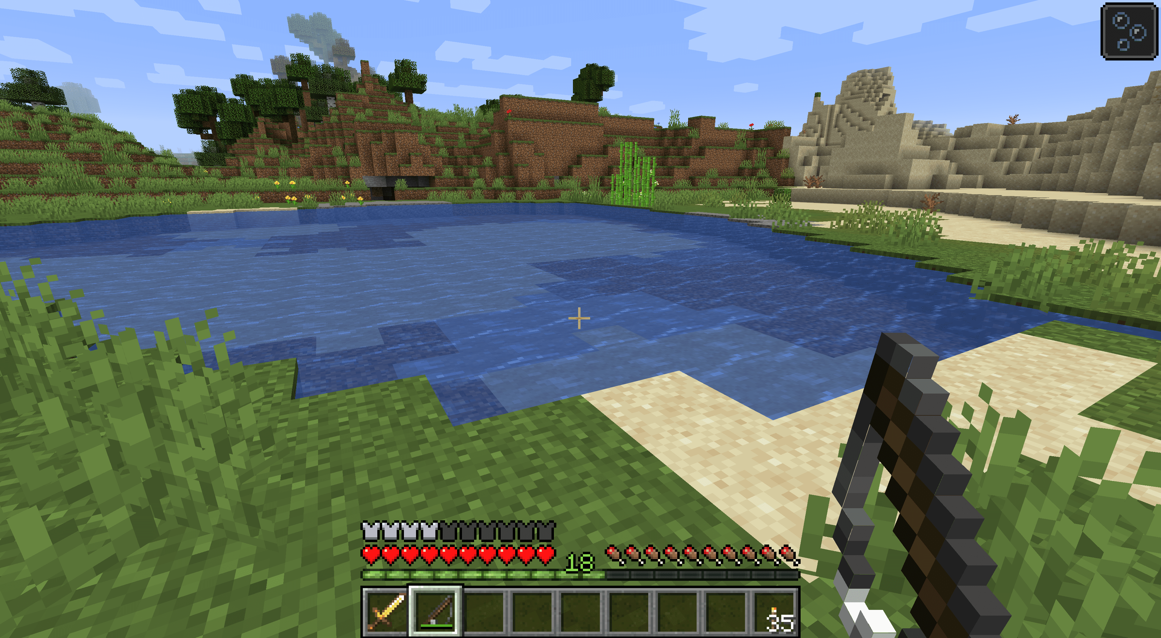 Fishing in Minecraft.