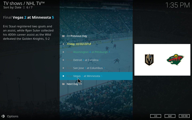 NHL Kodi Add-on