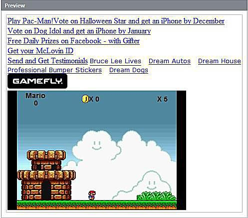 Super Mario Game Widget