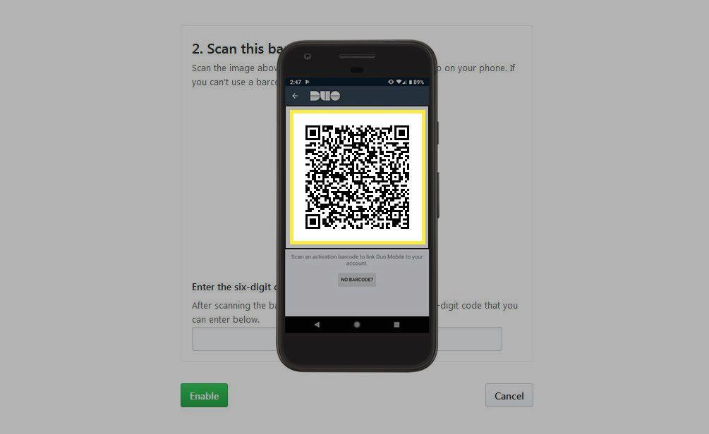Scan the barcode displayed by the app