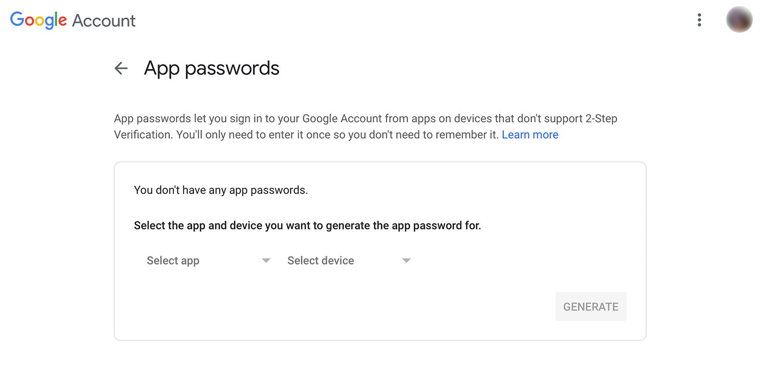 How to Revoke an Application Password for Gmail