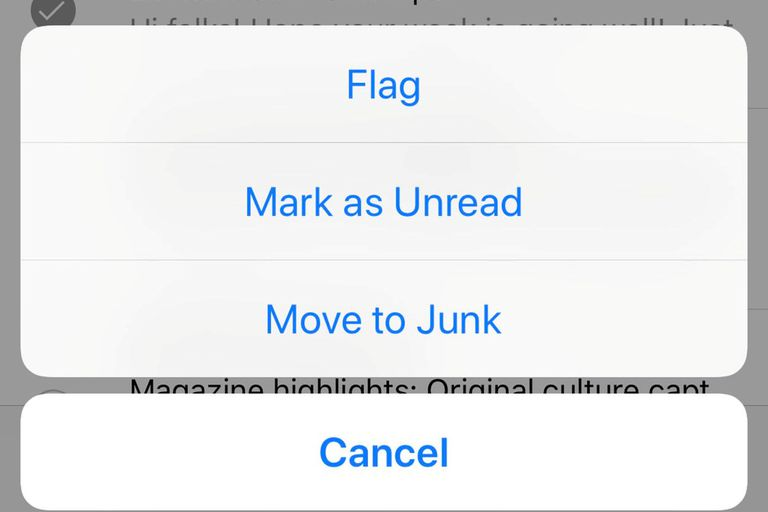 mark emails as read or unread on iphone screengrab