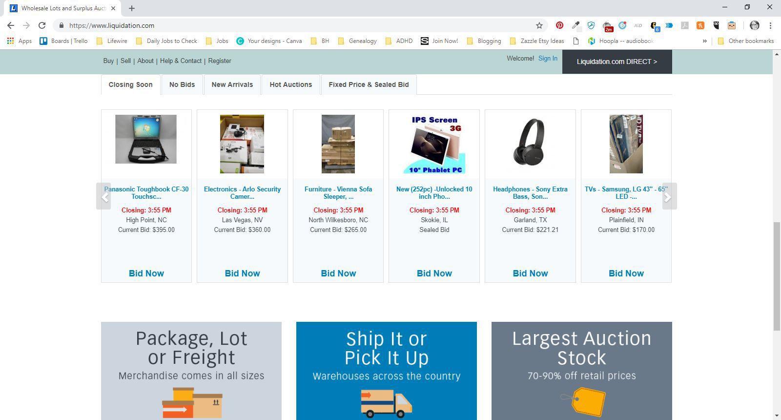 Liquidation Sites Best Wholesale Auctions Online