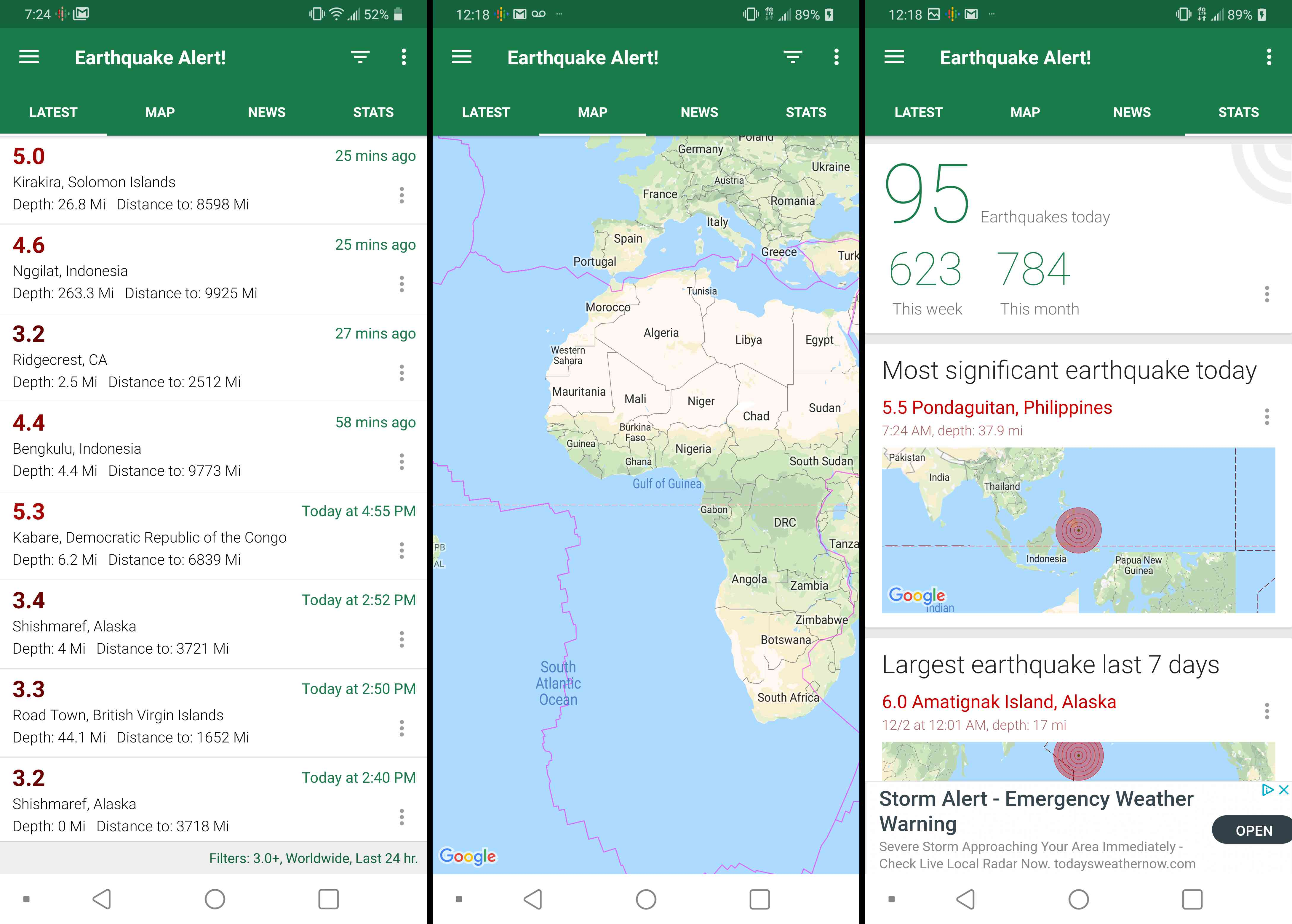 Earthquake Alert Software