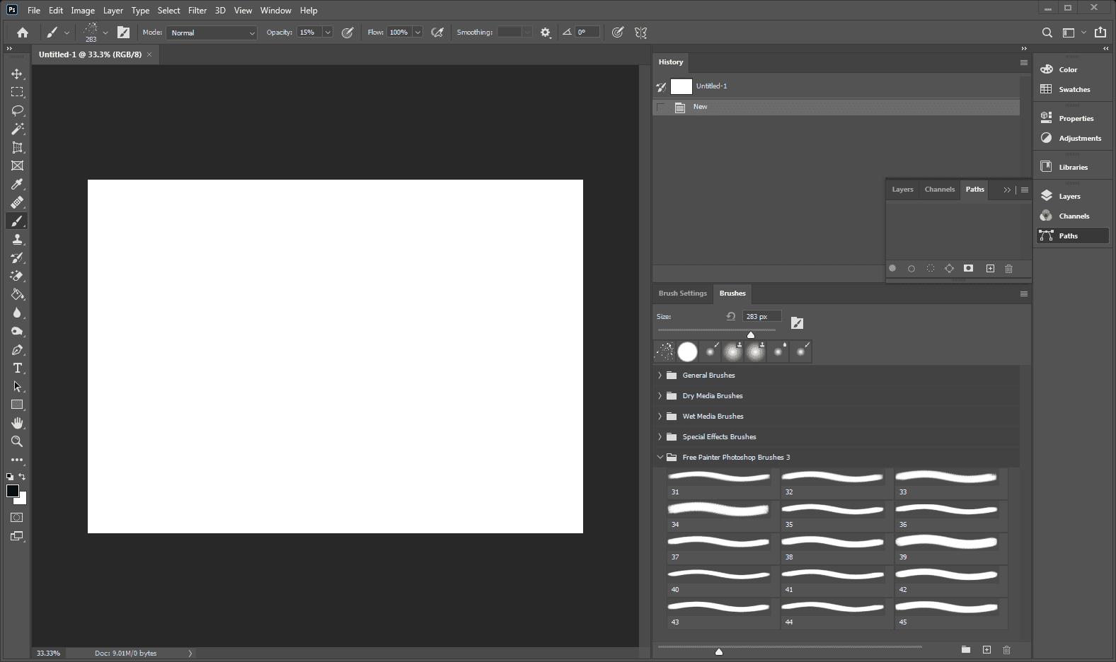 Photoshop with new brushes