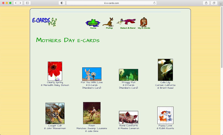 E-cards.com virtual card website supporting environmental causes