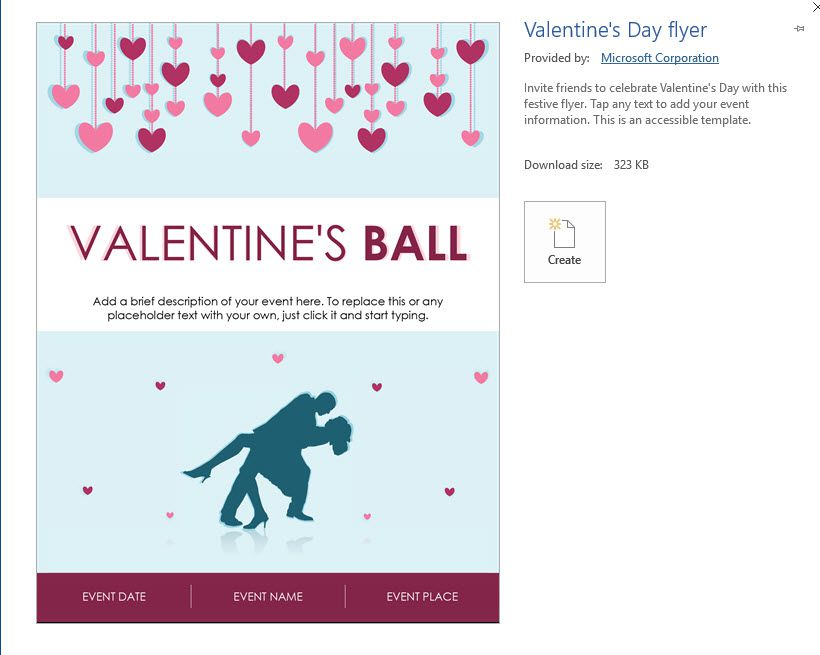 Valentine S Day Flier Template From Microsoft Word