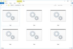 Screenshot of several BAT files in Windows 10