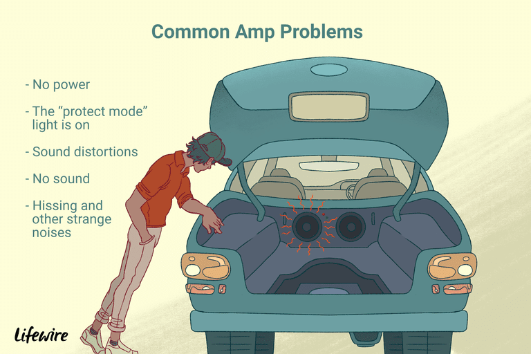 An illustration of the common car amp problems that one might experience.