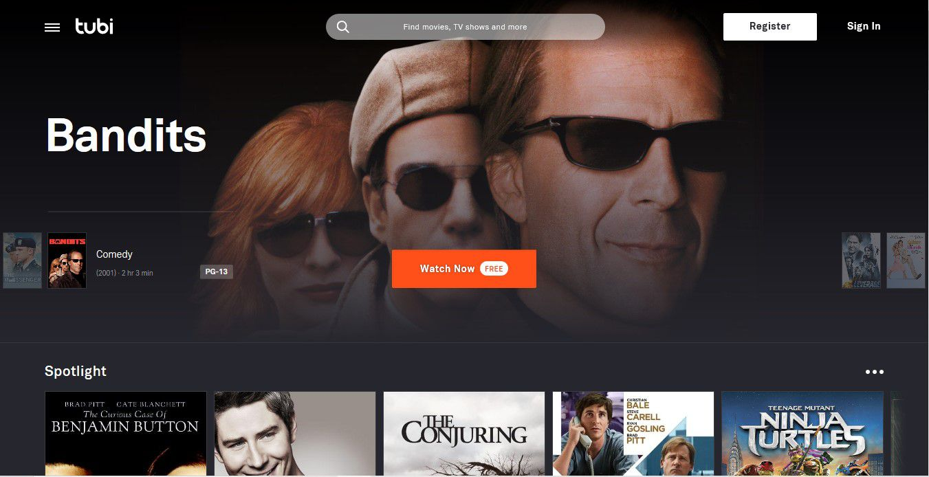 Free TV and movie streaming from Tubi