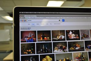 An image of Google Image Search on a laptop screen.