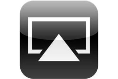 The Apple AirPlay icon.