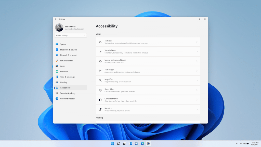 Windows 11 accessibility options