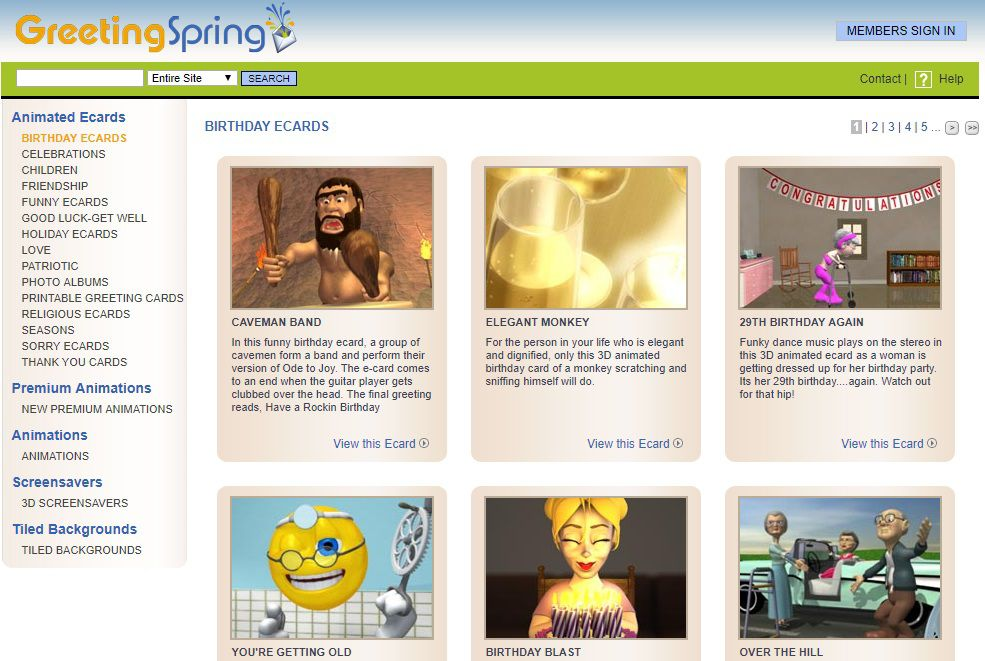 GreetingSpring Birthday E Cards Screenshot
