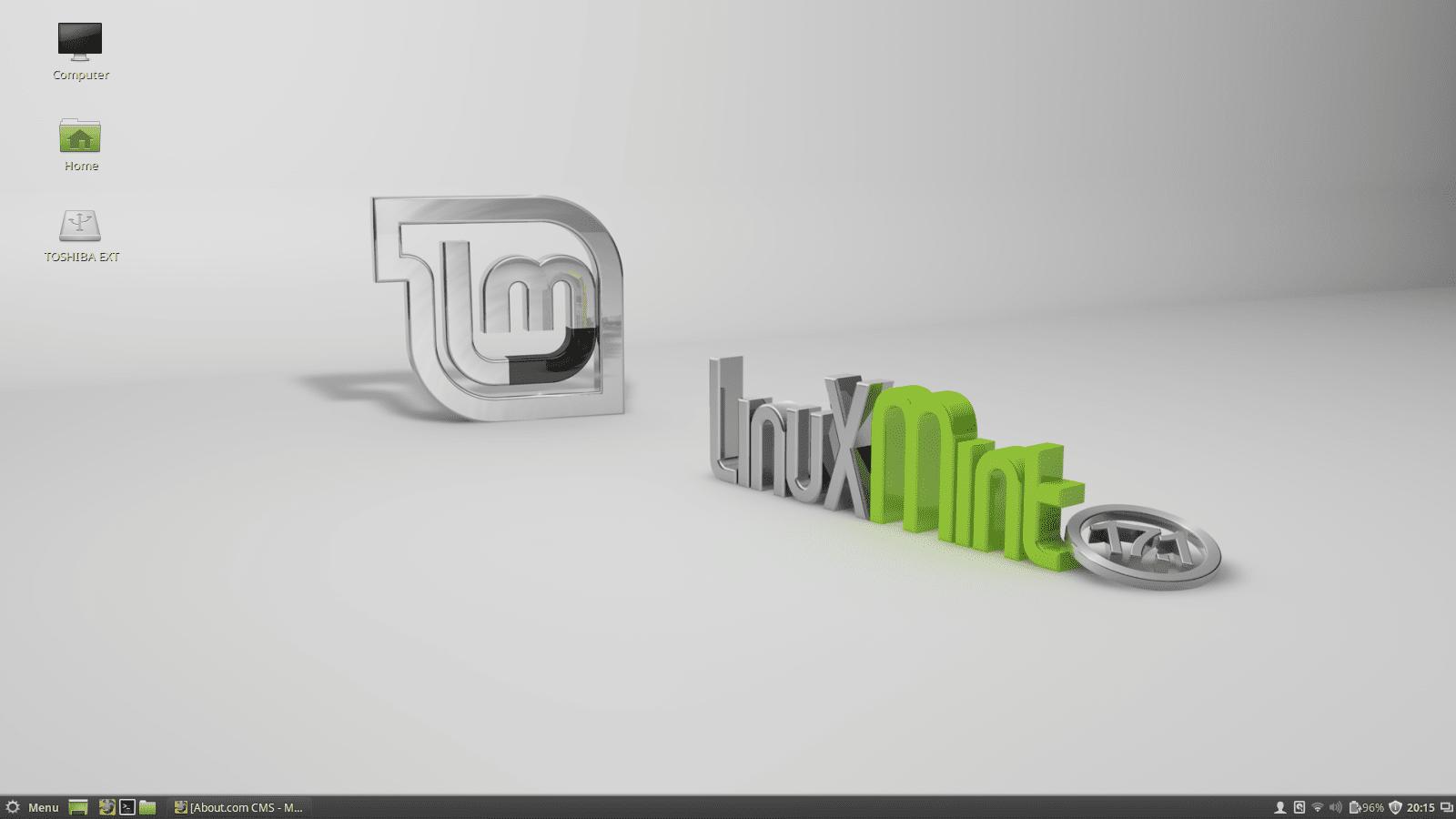 The Linux Mint desktop