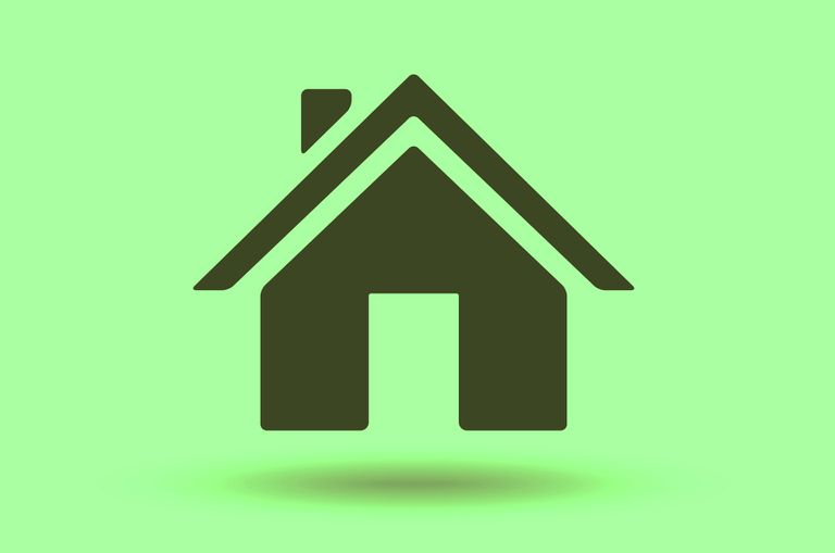 Home icon on green background