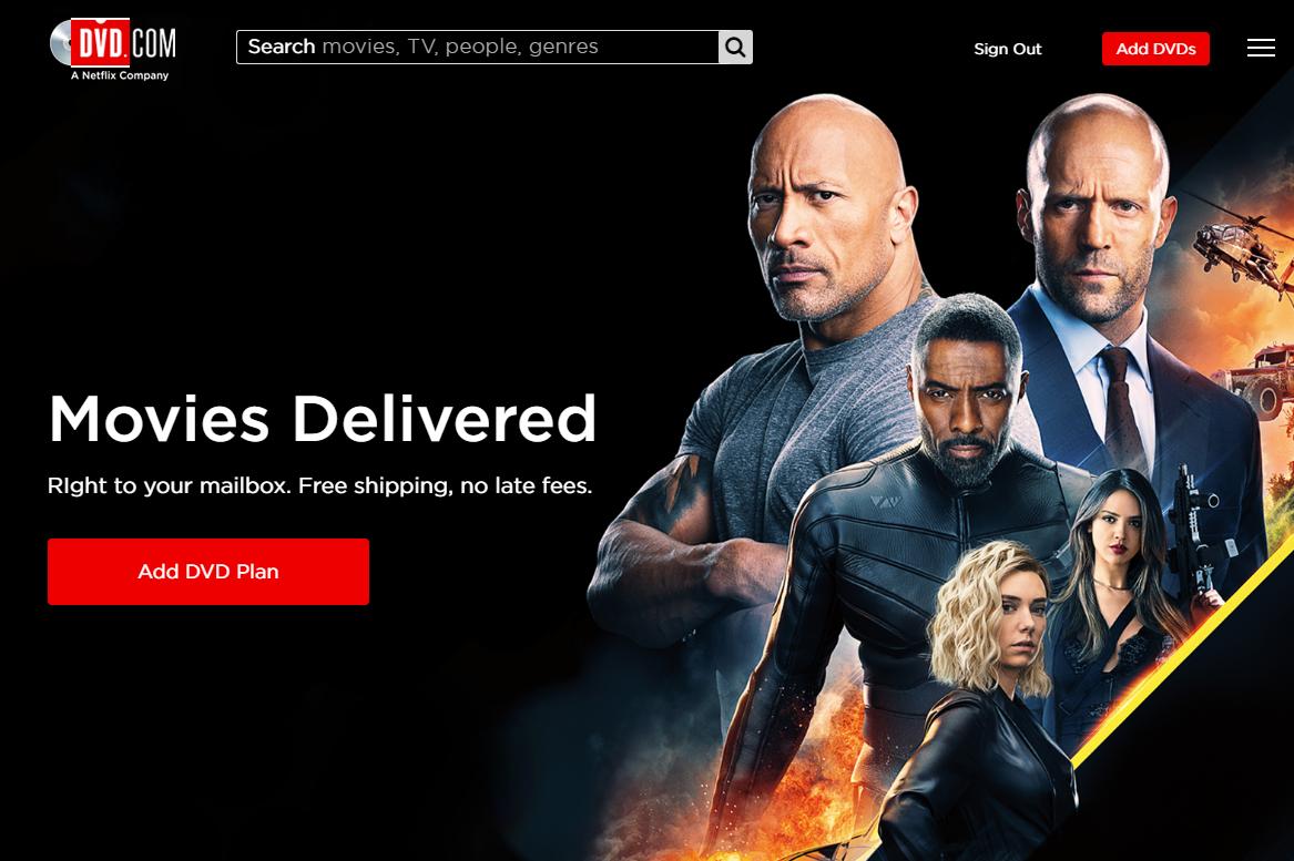 Netflix Add DVD Plan button