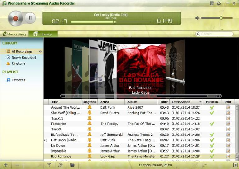 Wondershare-Audio-Recorder-Library-View