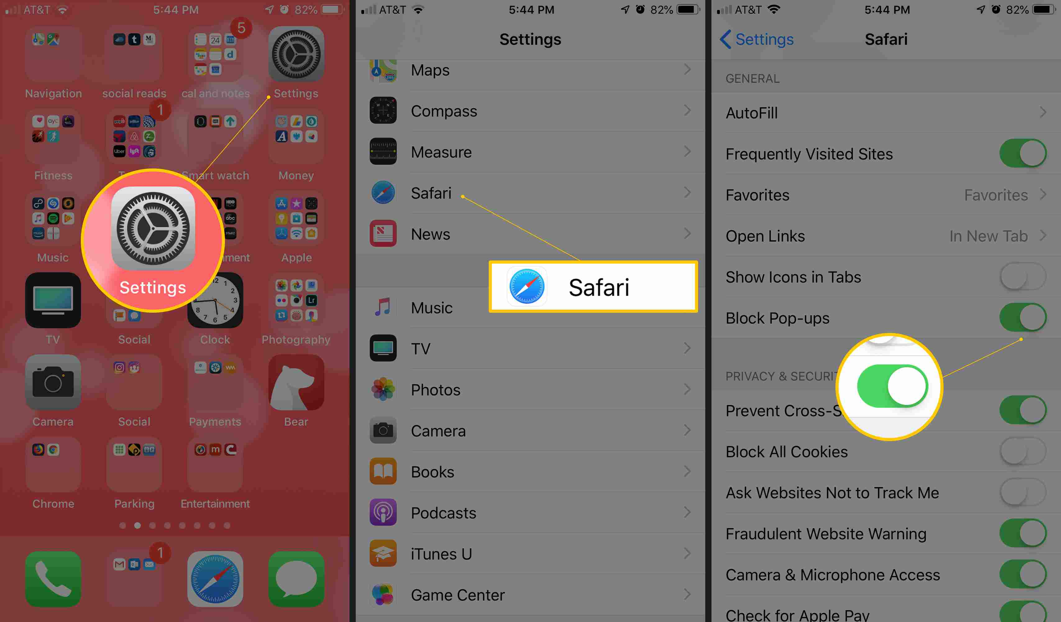 How to Enable the Safari Pop-up Blocker
