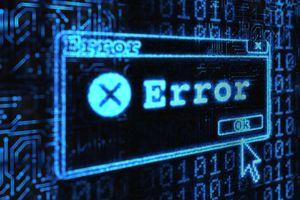 Image of a Windows error