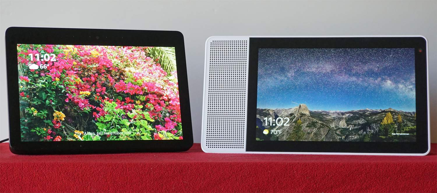 Amazon Echo Show and Lenovo Smart Display — Screen Savers
