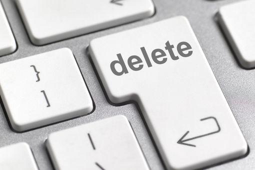image of Delete key on computer keyboard
