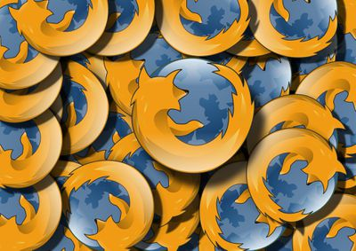 Firefox logos all stacked together.