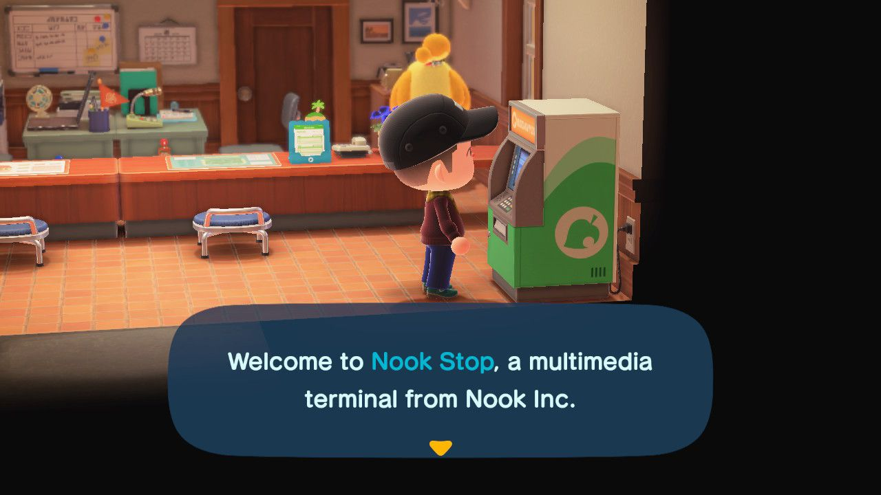 The Nook Stop in Animal Crossing