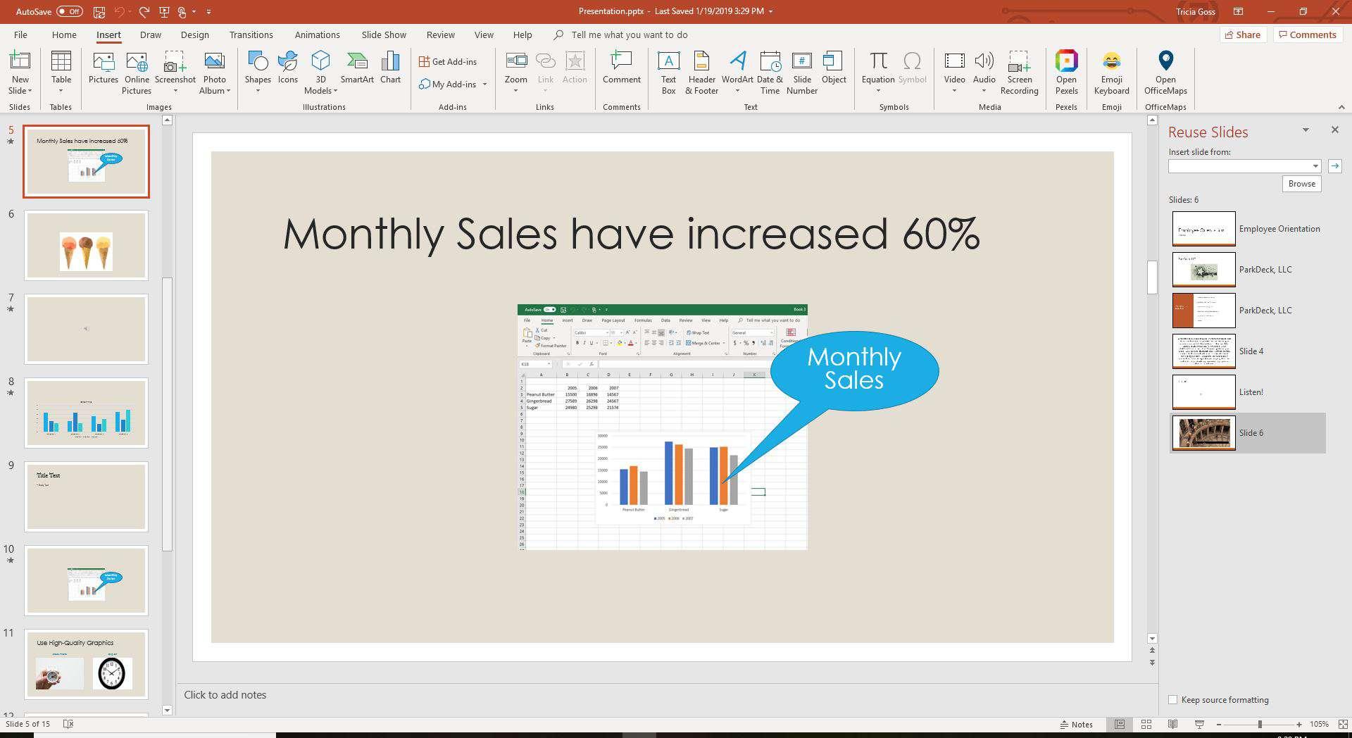 Reuse Slides task pane in PowerPoint