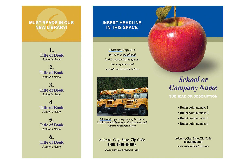 School Brochure Word Template