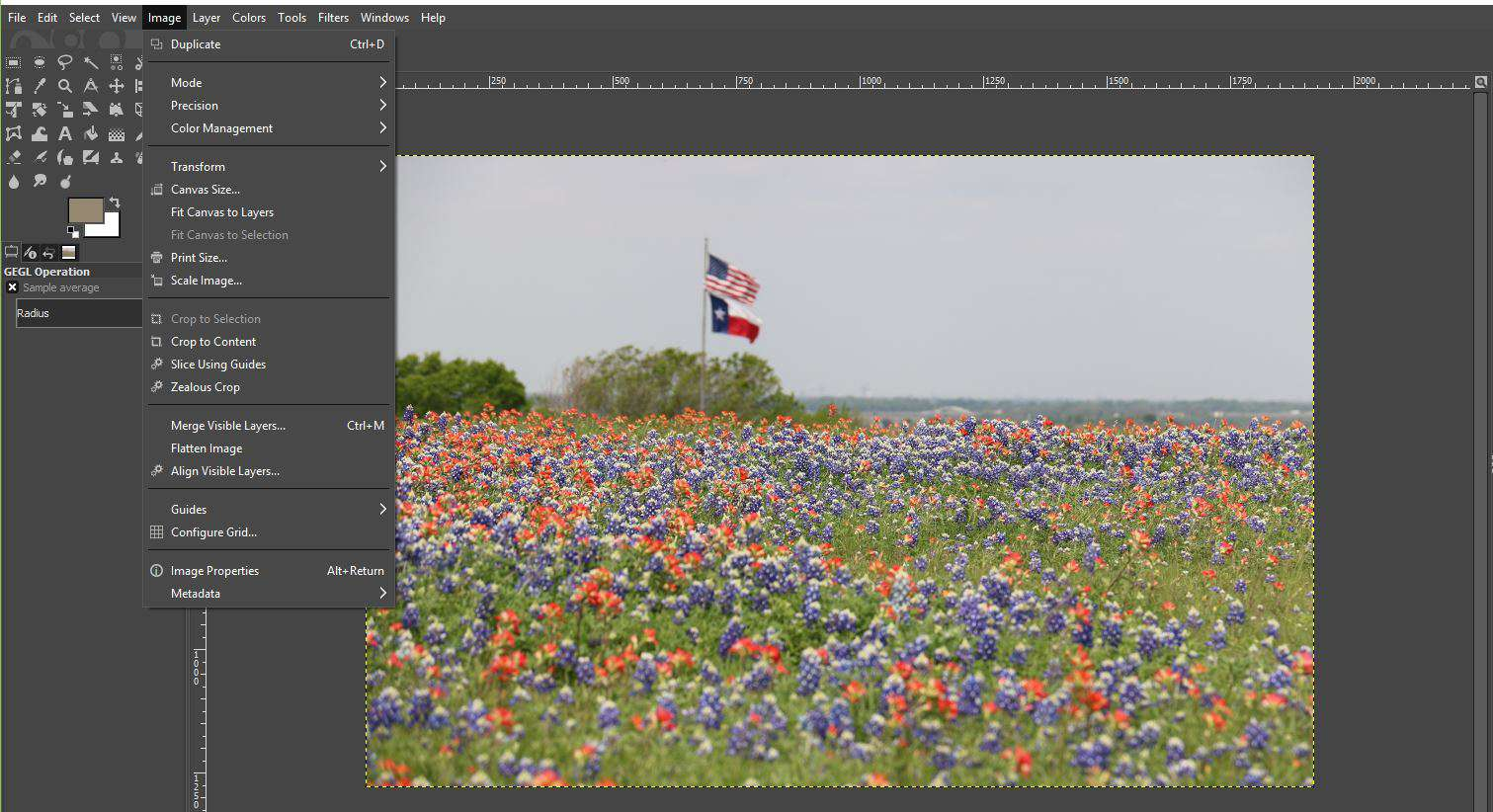 Getting a Color Scheme From an Image in GIMP
