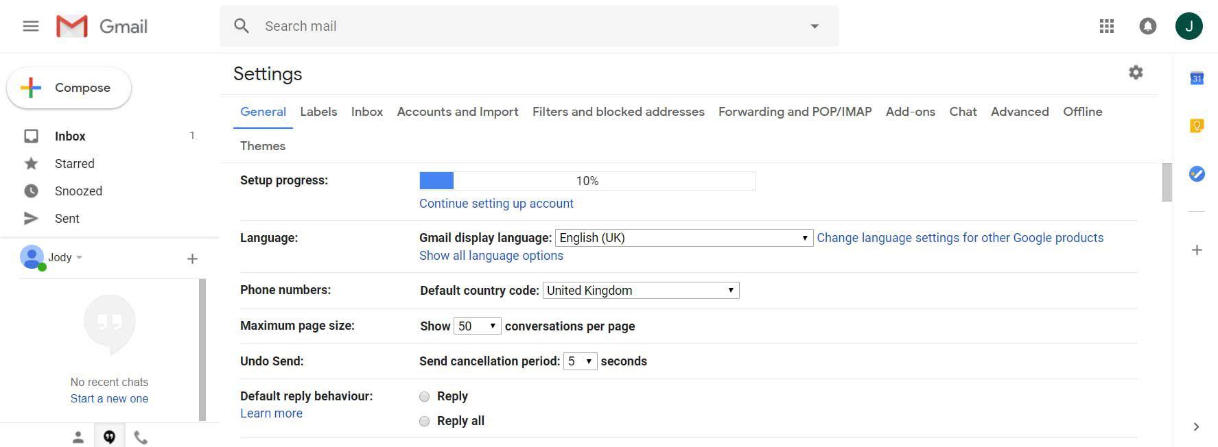 set google default country