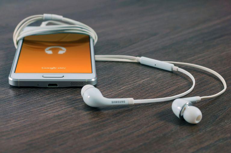 phones with headphones wrapped around