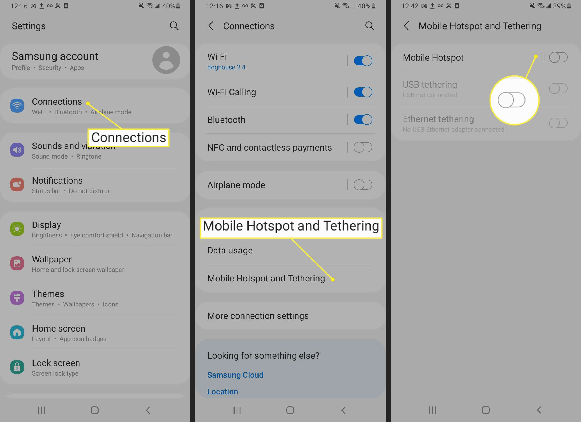 Android Mobile Hotspot and Tethering