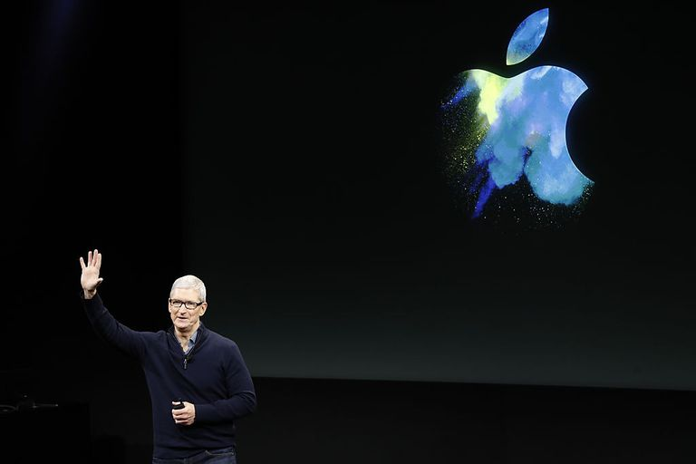 Apple CEO Tim Cook talks Apple TV, Stephen Lam, Getty Images News.