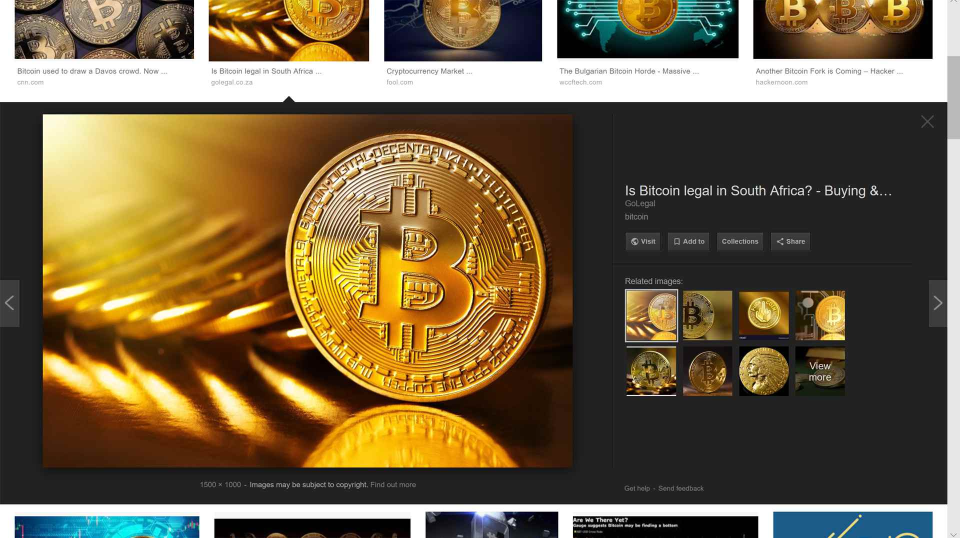 Screenshot of Bitcoin images in Google Images search results.
