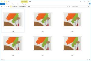 Screenshot of several TIF files in Windows 10
