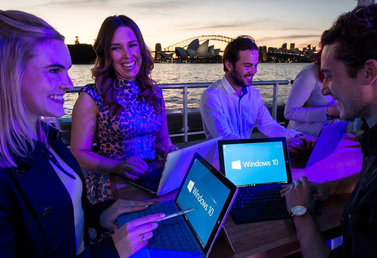 Microsoft's Windows 10 Launch In Sydney