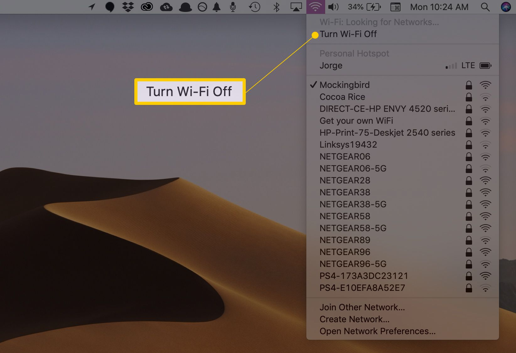 When And How To Turn Off Wi Fi On Your Devices Wiring A Whole House Computer Network Menu Item In Macos