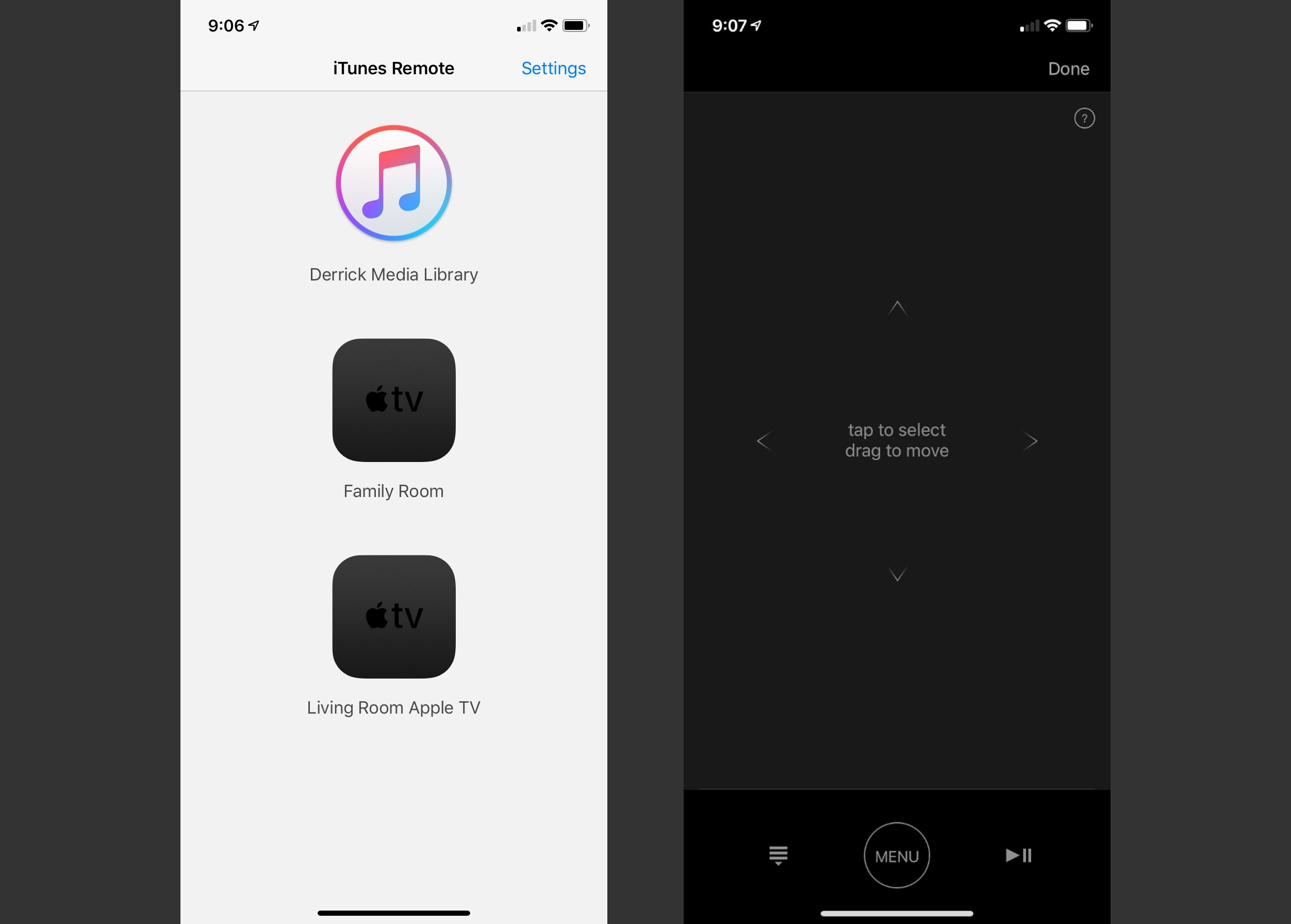 How to use the Apple TV Remote App