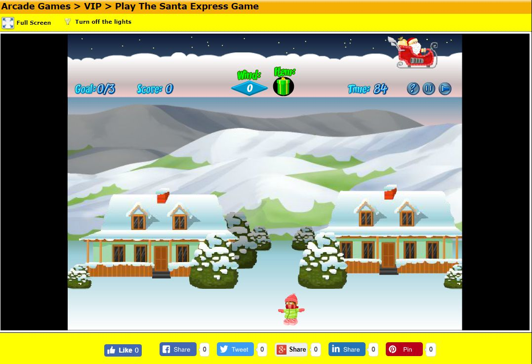A screenshot of the game The Santa Express