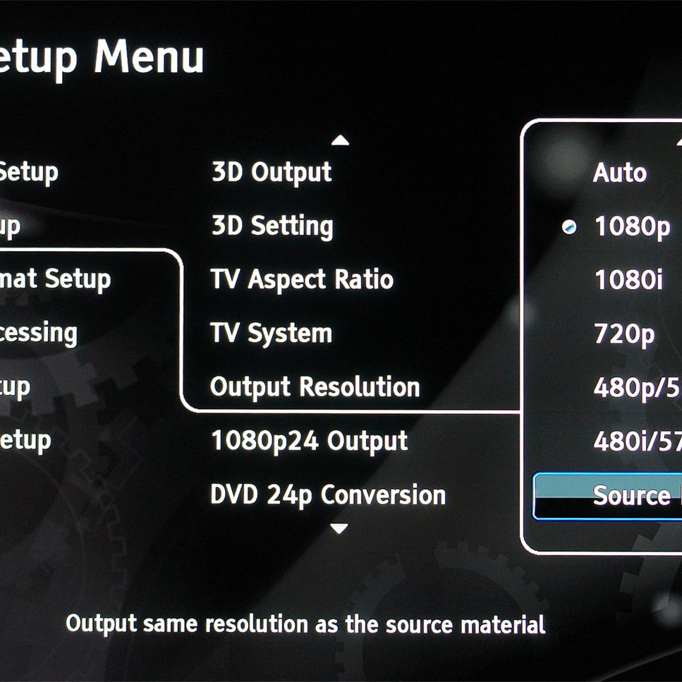 How to Use a Blu-ray Disc Player With a 720p TV