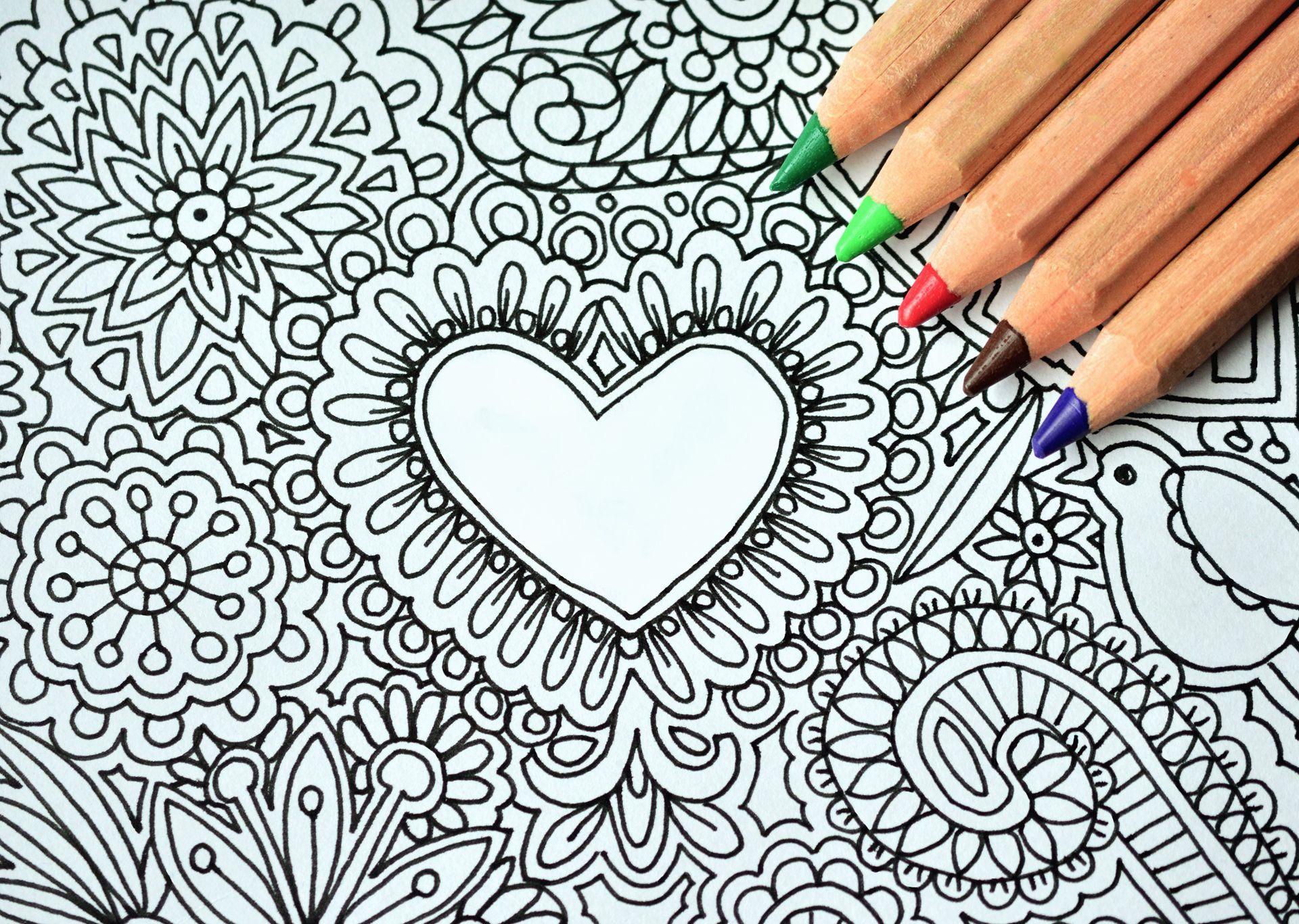 coloring page pencils