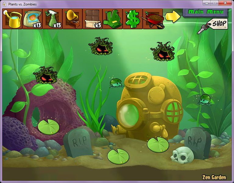 Level selection screen in Plants versus Zombies 3