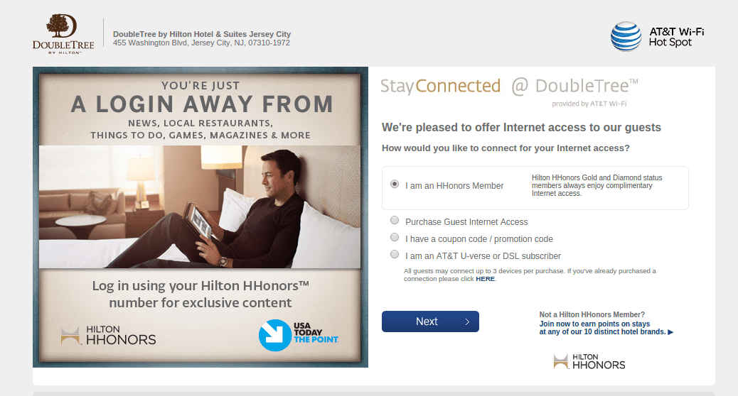 Access Wireless Internet in a Hotel