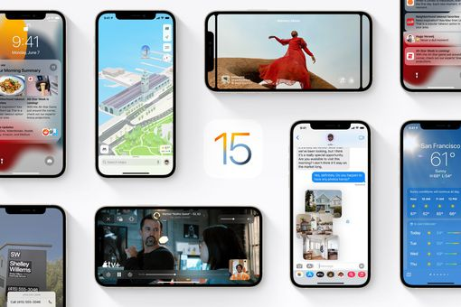 iOS 15 feature collage