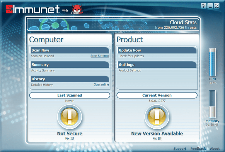Immunet 5 in Windows 8